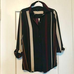 Who What Wear Striped Blouse XS
